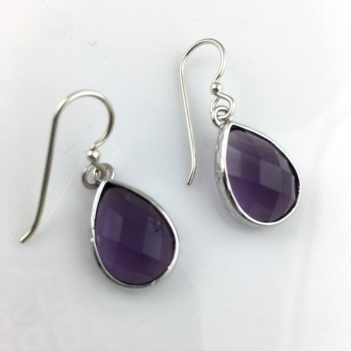 Classic Purple Crystal Earrings