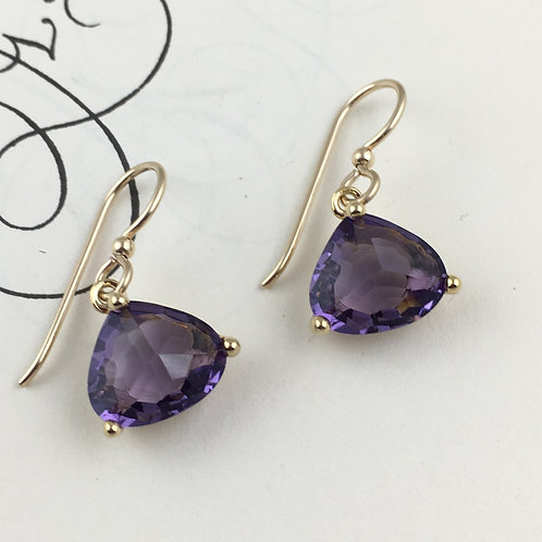 Sparkly Purple Crystal Earrings