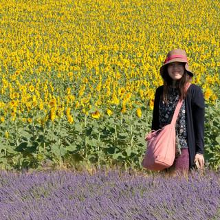 Des fleurs et un sourire