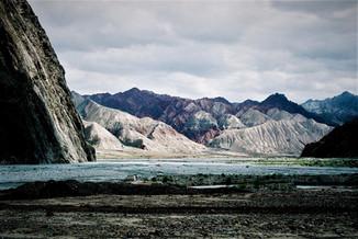 Vallée isolée d'Asie Centrale