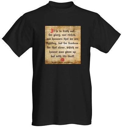Declaration of Arbroath T-Shirt (Black)