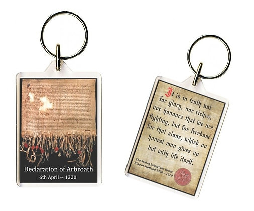 Double-sided Keyring - The Declaration of Arbroath