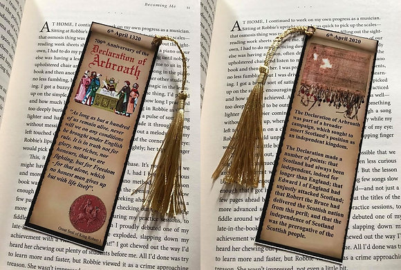 Declaration of Arbroath 700th Anniversary bookmark