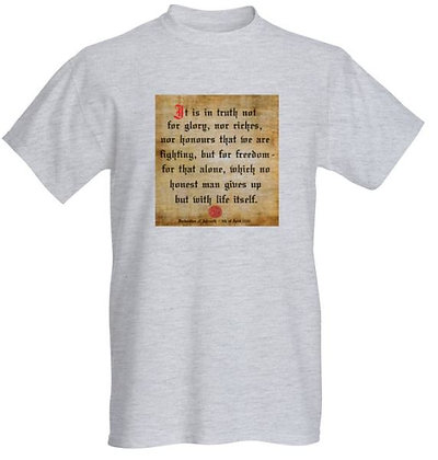 Declaration of Arbroath T-Shirt (Grey)