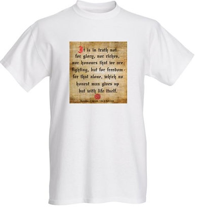 Declaration of Arbroath T-Shirt (White)
