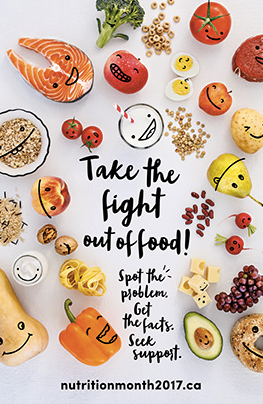 Nutrition Month 2017 - take the fight out of food