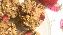 Strawberry Oatmeal Chia Seed Muffins