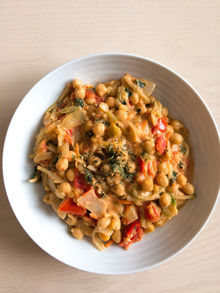 Chickpea and Veggie Coconut Curry
