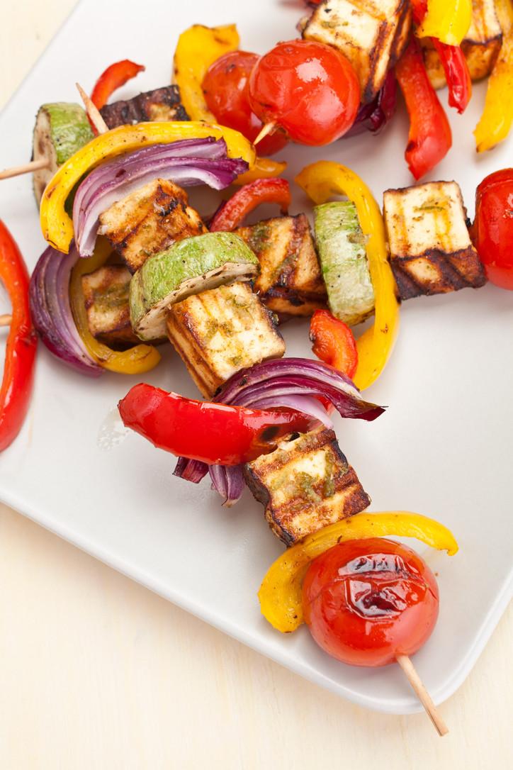 Grilled Veggie & Halloumi Skewers