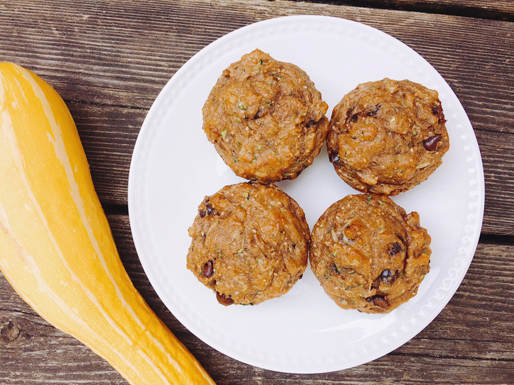 Pumpkin Spice Zucchini Muffins
