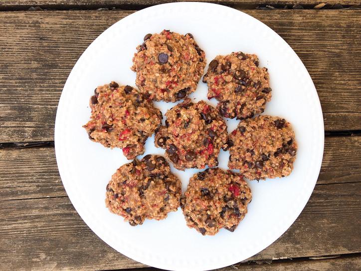 Raspberry Oatmeal Cookies