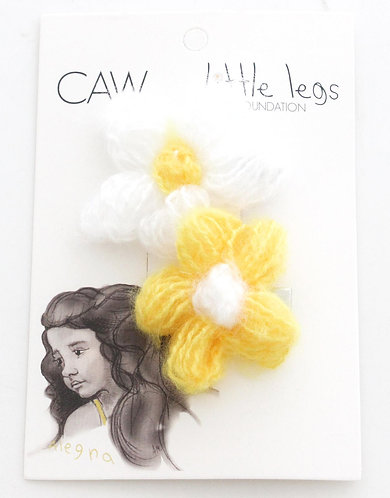 CAW DAISY TWIN PACK HAIR CLIP