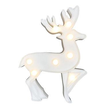 lampara navidad reno encendida