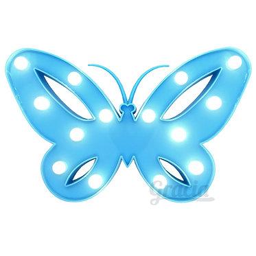 Lampara led mariposa azul