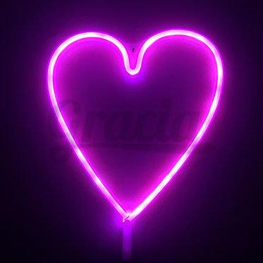 Lámpara Led Corazón Neón