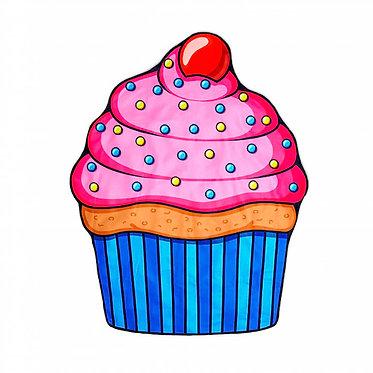 manta tapete cupcake picnic playa