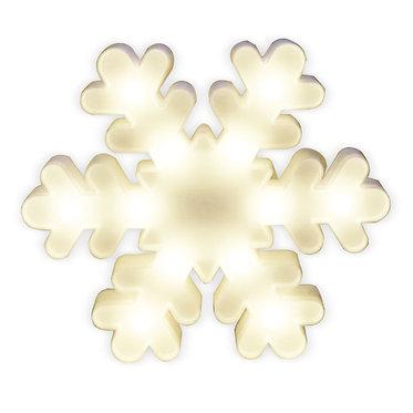 Lampara luz escarcha copo nieve encendida