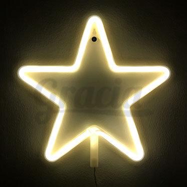 Lámpara de néon estrella