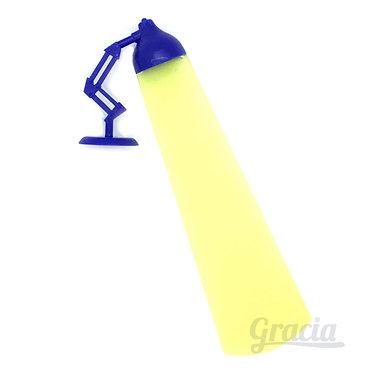 Separador de libro lampara medidas azuñ