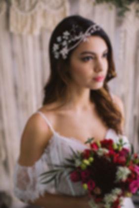 Bridal headpiece with swarovski crystals