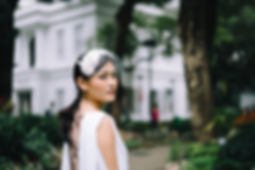 vintage inspired half hat, bridal hat in Hong Kong, birdcage veil