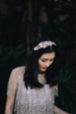 crystal headband, bridal headpiece, millinery handmade in hong kong, being of love, vintage