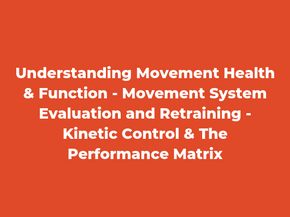 KINETIC CONTROL AND TPM INTRODUCTION LECTURE