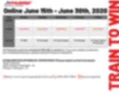 Summer Online June Schedule Second Week.