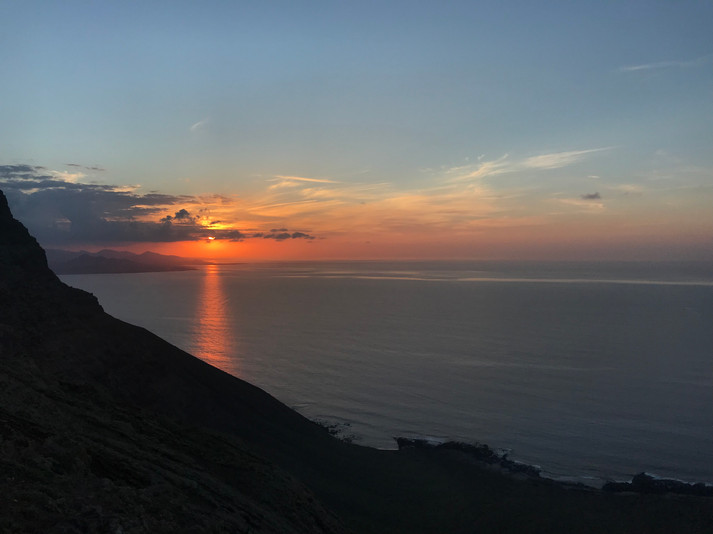 Sunset from the north