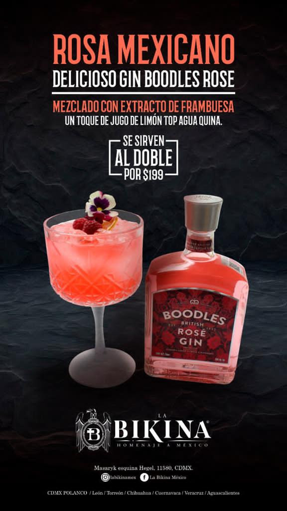 Promo Gin Boodles Rose
