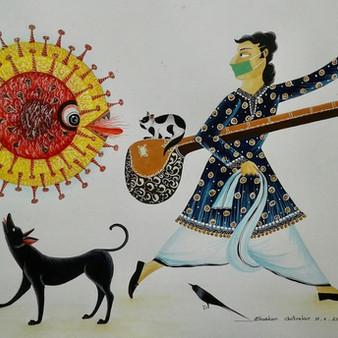 The Coronavirus Touches the Brush of the Patua Painter of Kalighat