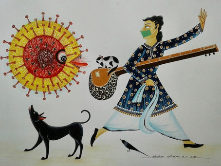 The Coronavirus Touches the Brush of the Patua Painter of Kalighat