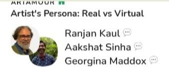 Artist's Persona: Real v. Virtual