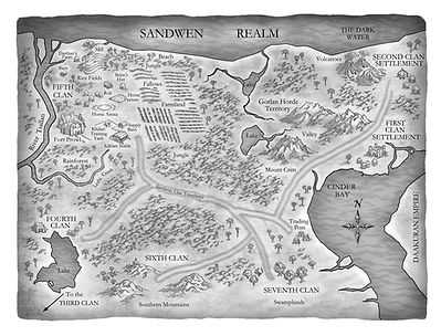 Riders of the Realm, Map of the Sandwen Realm