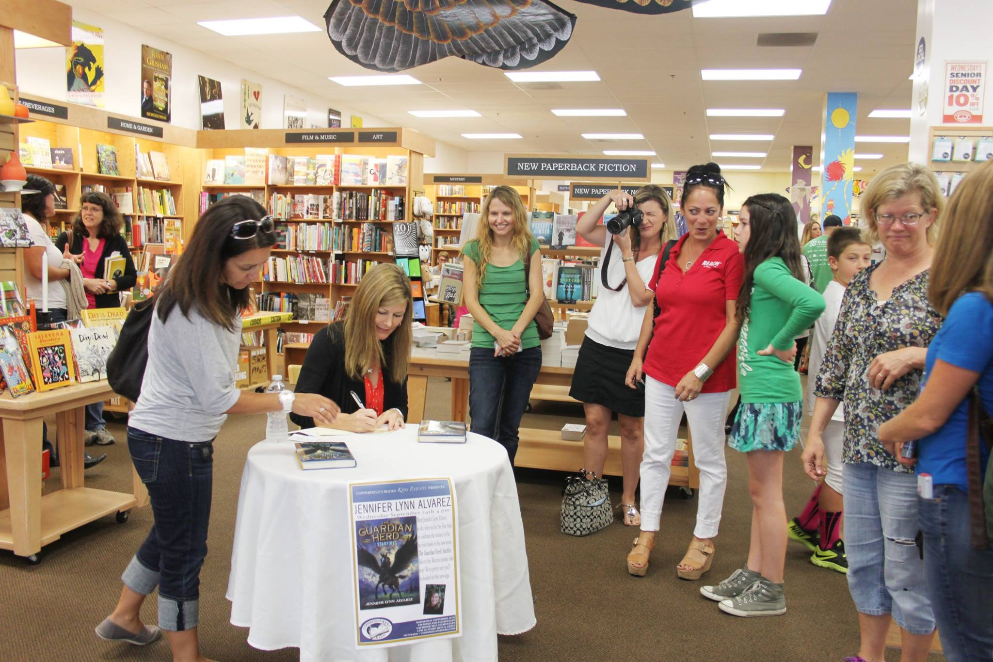 Signing at Copperfield's
