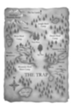 The Guardian Herd, Map of the Trap from Book #3 LANDFALL