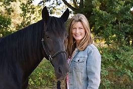 Author Jennifer Lynn Alvarez with her horse Maddie