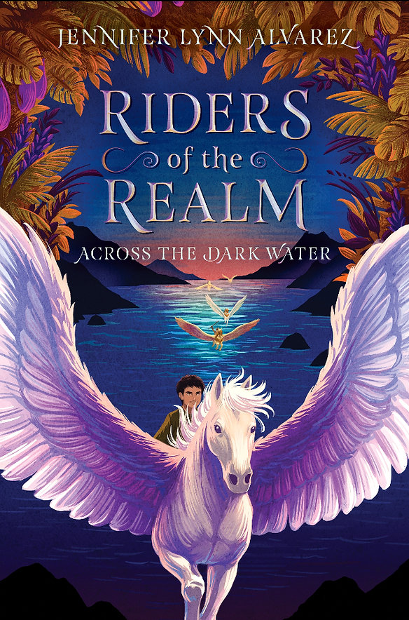 Book cover image for RIDERS OF THE REALM, Across the Dark Water, by Jennier Lynn Alvarez