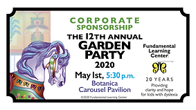 GardenParty CORPORATE SPONSORSHIP Ticket