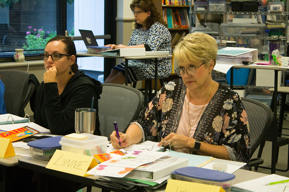 Lynne Schneider takes the Advanced Literacy Intervention Specialist course.