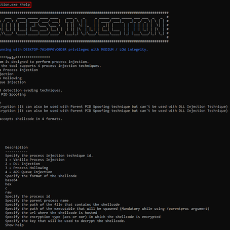 Process Injection Tool Updates