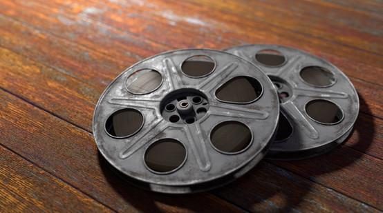 Old film reels