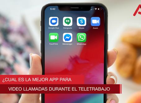 ¿Cuál es la mejor app para video llamadas durante el teletrabajo?