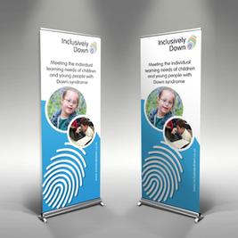 Inclusively Down Exhibition banners