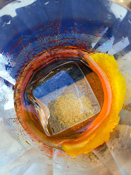 abstract art, iced drink