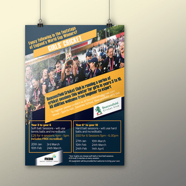 Beaconsfield Girls Cricket promotional poster