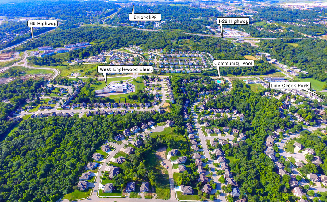 Oakwood Forest New Home Community Aerial