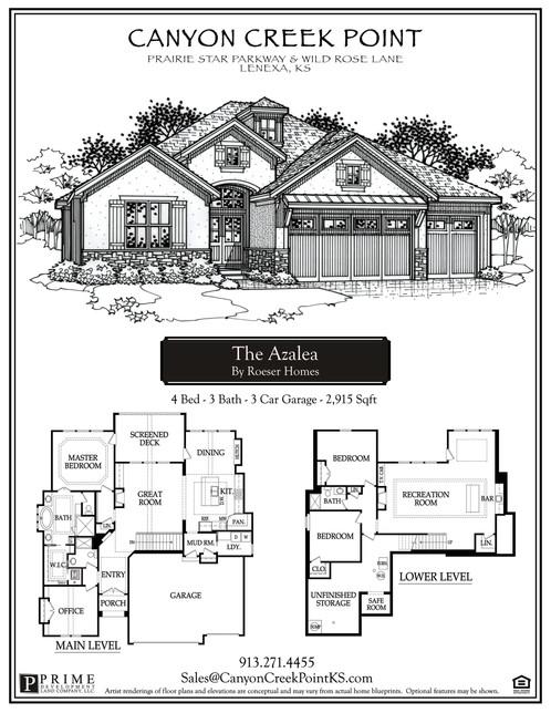 Azalea Plan Lot Canyoncreekpoint - Elevation level by address
