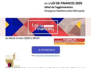 Présentation Loi de finances 2020, à Perpignan