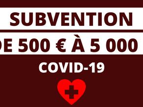 SUBVENTION PREVENTION COVID-19 POUR LES TPE-PME